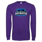 Purple Long Sleeve T Shirt-Secondary Logo