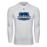 Under Armour White Long Sleeve Tech Tee-Secondary Logo