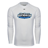 Under Armour White Long Sleeve Tech Tee-Tertiary Logo