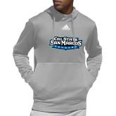 Adidas Grey Team Issue Hoodie-Tertiary Logo
