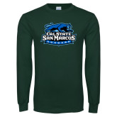Dark Green Long Sleeve T Shirt-Secondary Logo
