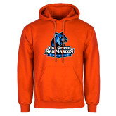 Orange Fleece Hoodie-Primary Logo