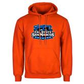 Orange Fleece Hoodie-Secondary Logo