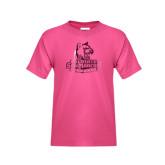 Youth Fuchsia T Shirt-Primary Logo