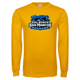 Gold Long Sleeve T Shirt-Secondary Logo