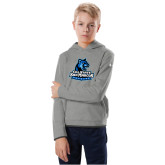 Youth Under Armour Grey Fleece Hoodie-Primary Logo