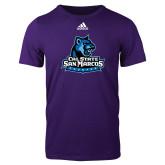 Adidas Purple Logo T Shirt-Primary Logo