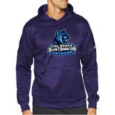 Adidas Purple Team Issue Hoodie-Primary Logo