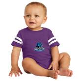 Vintage Purple Jersey Onesie-Primary Logo