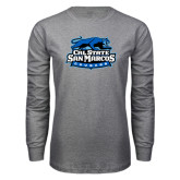 Grey Long Sleeve T Shirt-Secondary Logo