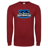 Cardinal Long Sleeve T Shirt-Secondary Logo