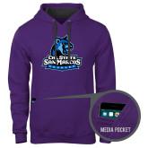 Contemporary Sofspun Purple Hoodie-Primary Logo