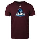 Adidas Maroon Logo T Shirt-Primary Logo