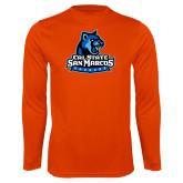 Performance Orange Longsleeve Shirt-Primary Logo