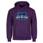 Purple Fleece Hoodie-Secondary Logo