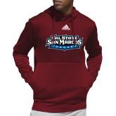 Adidas Cardinal Team Issue Hoodie-Tertiary Logo
