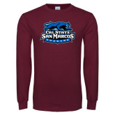 Maroon Long Sleeve T Shirt-Secondary Logo