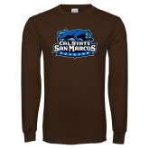 Brown Long Sleeve T Shirt-Secondary Logo