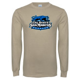 Khaki Gold Long Sleeve T Shirt-Secondary Logo
