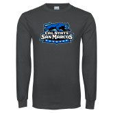 Charcoal Long Sleeve T Shirt-Secondary Logo