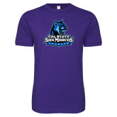 Next Level SoftStyle Purple T Shirt-Primary Logo