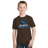 Youth Brown T Shirt-Primary Logo