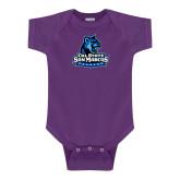 Purple Infant Onesie-Primary Logo
