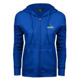 ENZA Ladies Royal Fleece Full Zip Hoodie-Primary Logo