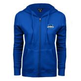 ENZA Ladies Royal Fleece Full Zip Hoodie-Secondary Logo