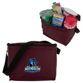 Six Pack Maroon Cooler-Primary Logo