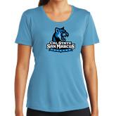 Ladies Syntrel Performance Light Blue Tee-Primary Logo