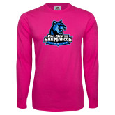 Cyber Pink Long Sleeve T Shirt-Primary Logo