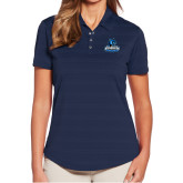 Ladies Callaway Horizontal Textured Navy Polo-Primary Logo