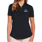 Ladies Callaway Horizontal Textured Black Polo-Primary Logo