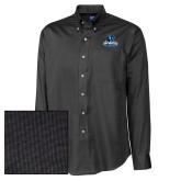 Cutter & Buck Black Nailshead Long Sleeve Shirt-Primary Logo