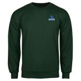 Dark Green Fleece Crew-Primary Logo