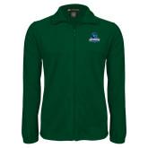 Fleece Full Zip Dark Green Jacket-Primary Logo