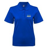 Ladies Easycare Royal Pique Polo-Secondary Logo