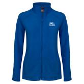 Ladies Fleece Full Zip Royal Jacket-CSUSM with University