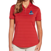 Ladies Callaway Horizontal Textured Deep Red Polo-Primary Logo