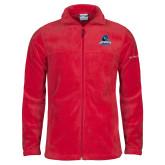 Columbia Full Zip Red Fleece Jacket-Primary Logo