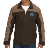 DRI DUCK Horizon Field Khaki/Tobacco Canvas Jacket-Primary Logo