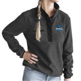 Ladies DRI DUCK Aspen Charcoal Fleece Pullover-Primary Logo