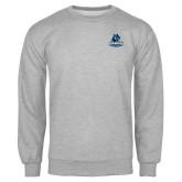 Grey Fleece Crew-Primary Logo
