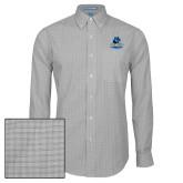 Mens Charcoal Plaid Pattern Long Sleeve Shirt-Primary Logo