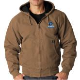 DRI DUCK Cheyenne Field Khaki Hooded Jacket-Primary Logo