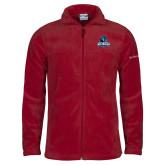 Columbia Full Zip Cardinal Fleece Jacket-Primary Logo