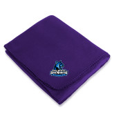 Purple Arctic Fleece Blanket-Primary Logo