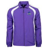 Colorblock Purple/White Wind Jacket-Primary Logo