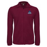 Fleece Full Zip Maroon Jacket-Primary Logo